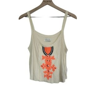 Urban Outfitters Embroidered Tank Top Womens Small